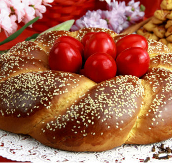 Kozunak, un pan tradicional típico de Bulgaria
