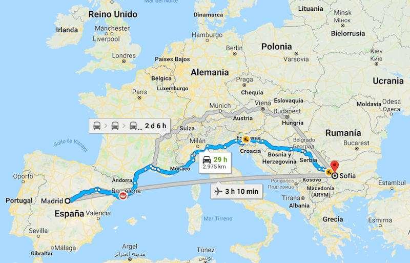 mapa-llegar-a-bulgaria