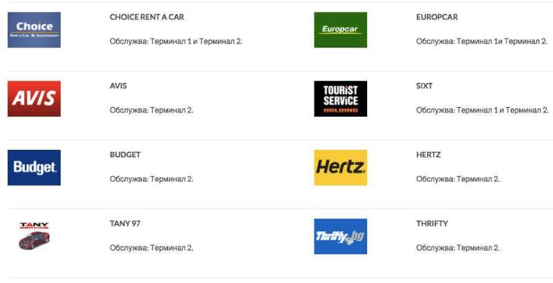 Empresas de Taxi Aeropuerto de Sofia, Bulgaria