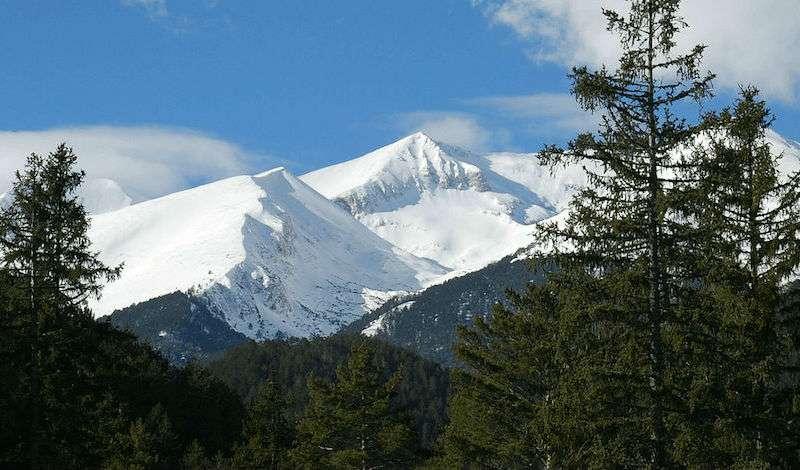 La montaña de Pirin Bulgaria