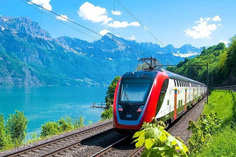 Tren viajar por Europa