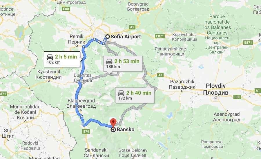 ruta-sofia-bansko-bulgaria